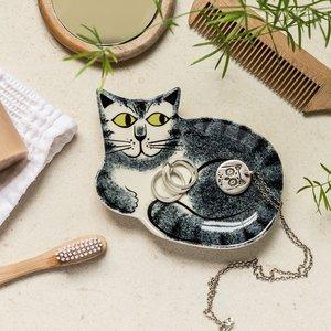 Hannah Turner Hannah Turner Cat Trinket Dish Grey