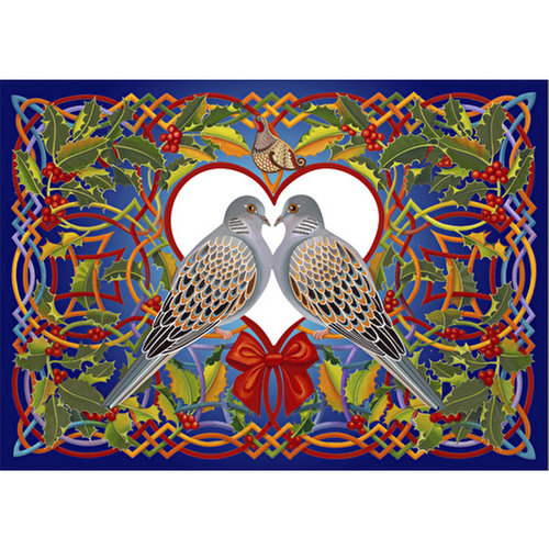 Wentworth Wooden Puzzles Two Turtle Doves Jigsaw Puzzle - 250 pc.