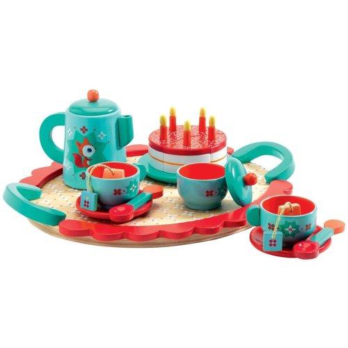 Djeco Fox Wooden Tea Party Set
