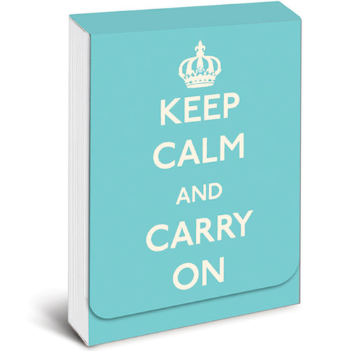 Keep Calm & Carry On Notepad