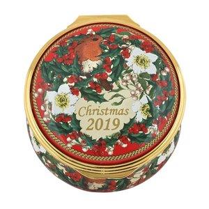 Halcyon Days Halcyon Days 2019 Christmas Enamel Box