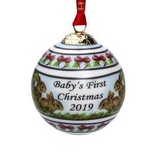 Halcyon Days halcyon days babys first christmas bauble