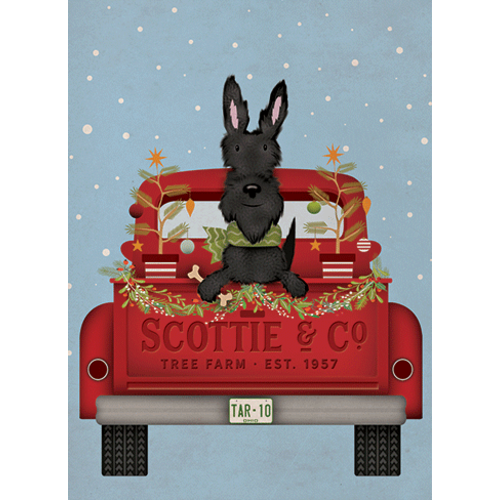 Scottie in Truck Boxed Christmas Cards
