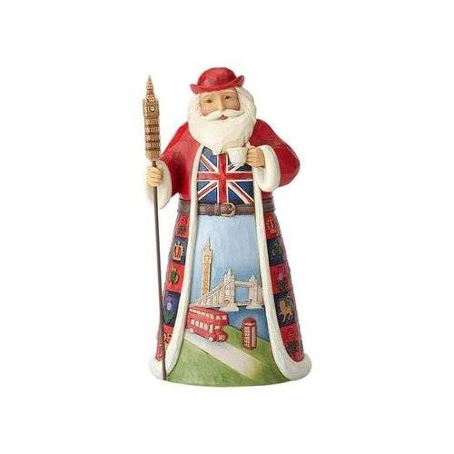 """A British Christmas"" British Santa Figurine"