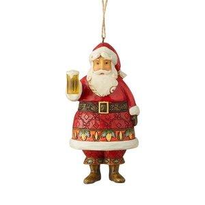 Jim Shore Craft Beer Santa Ornament HWC