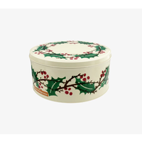 Round Winter Berries Tin Small
