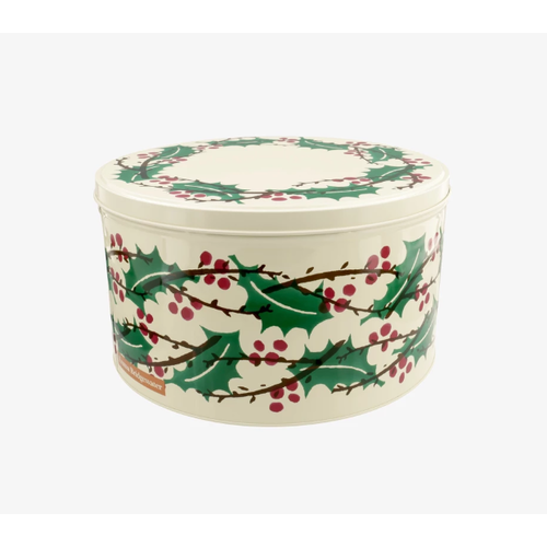 Emma Bridgewater Emma Bridgewater Round Winter Berries Tin Medium
