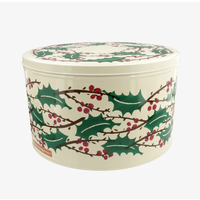 Round Winter Berries Tin Large