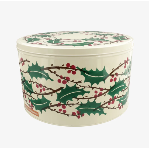 Emma Bridgewater Emma Bridgewater Round Winter Berries Tin Large