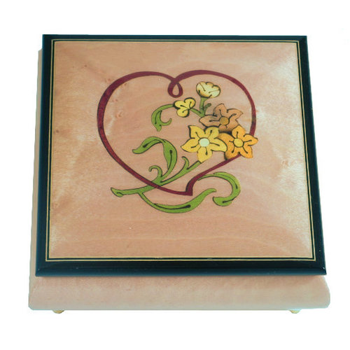 Splendid Music Box Co. Splendid Music Box Co. Square Box with Heart