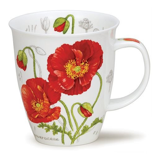Dunoon Dunoon Nevis Botanical Sketch Poppy Mug