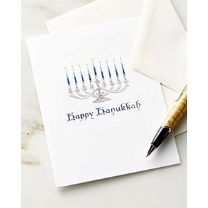 Caspari Caspari Warm Wishes Hanukkah Cards Boxed