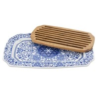 Spode Judaica Collection Challah Tray w/ Wood Insert