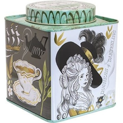 Elite Tins Tea Twist Lid Caddy