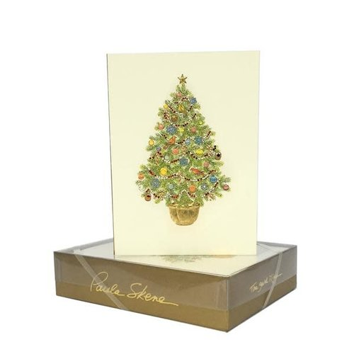 Paula Skene Christmas Tree in Pot Boxed Cards