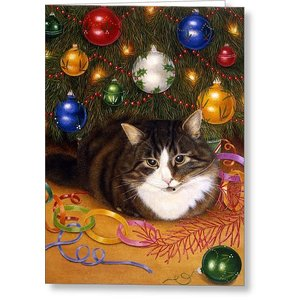 Cat Under the Tree Boxed Cards