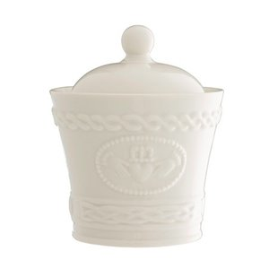 Belleek Belleek Claddagh Sugar Bowl