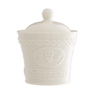 Belleek Claddagh Sugar Bowl