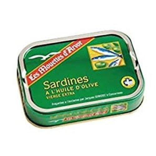 Les Mouettes Sardines in Extra Virgin Olive Oil