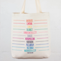 To Home From London Tube Lines Lien Tote Bag
