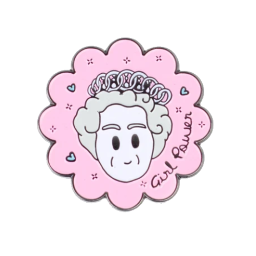 To Home From London Queen Enamel Pin Girl Power!