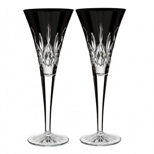 Waterford Waterford Crystal Lismore Black Toasting Flute Pair