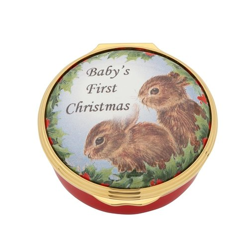 Halcyon Days Halcyon Days Baby's First Christmas Enamel Box