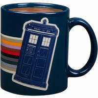 Dr. Who 13th Doctor Retro Rainbow Tardis Mug