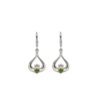 House of Lors Gold Heart in Claddagh Earrings