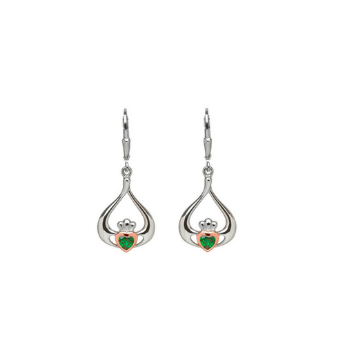 House of Lors Pure Irish Gold Heart in Claddagh Earrings