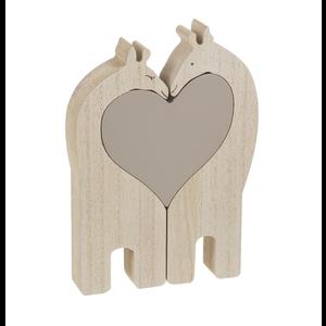 Wooden Heart Giraffes