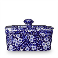Calico Blue Butter Dish