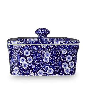 Burleigh Pottery Calico Blue Butter Dish