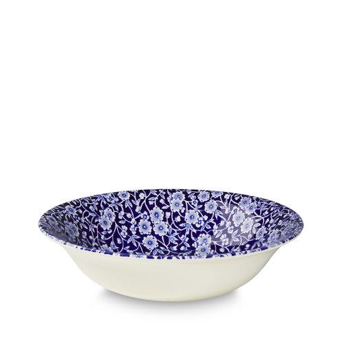 Burleigh Pottery Calico Blue Pudding/Soup Bowl