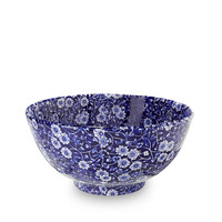 Calico Blue Medium Footed Bowl