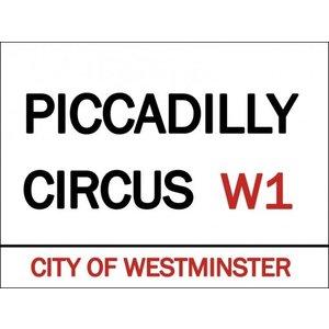 Original Metal Sign Co. Original Metal Sign Co. Piccadilly Circus Street Sign