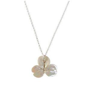 Belleek White Shamrock Necklace