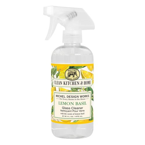 Michel Design Works Michel Lemon Basil Glass Cleaning Spray