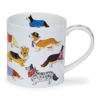Orkney Dashing Dogs Corgi Mug