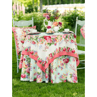 Marion White/Multi 60 x 90 Tablecloth
