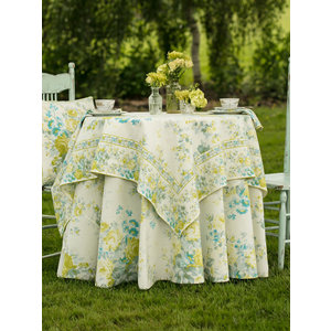 April Cornell Cottage Rose Ivory 60 x 90 Tablecloth