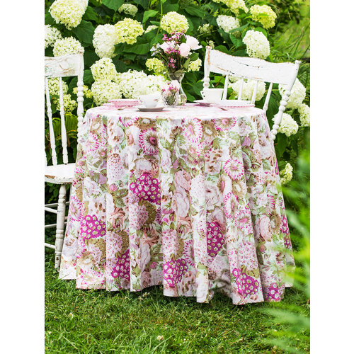 April Cornell Spring Gathering Round Vintage Tablecloth