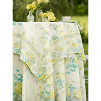 Cottage Rose Ivory 54 x 54 Tablecloth