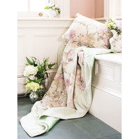 Tea Garden Velvet Throw Sage