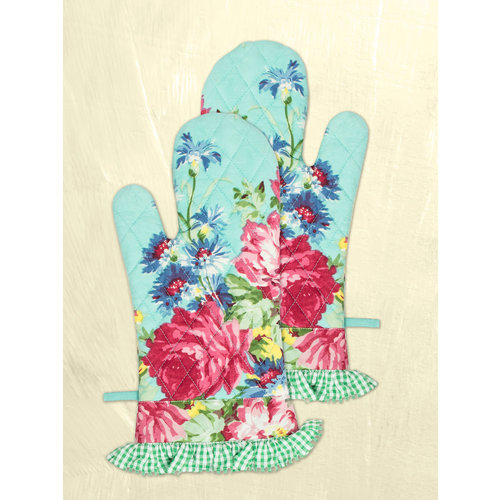 April Cornell Printemps Patchwork Oven Mitts