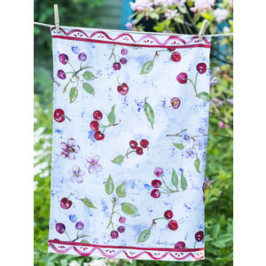 April Cornell Cherries Tea Towel