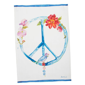 April Cornell Peace Tea Towel