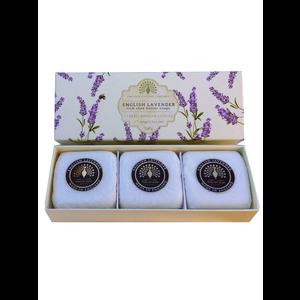 The English Soap Company English Lavender Set of 3 Soaps