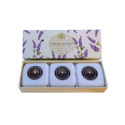 The English Soap Company The English Soap Co. English Lavender Set of 3 Soaps