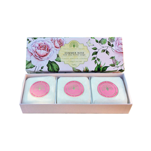 The English Soap Company Summer Rose Set of 3 Soaps